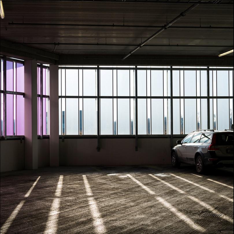 Scanlight system 620 i parkeringshus, Barkaby