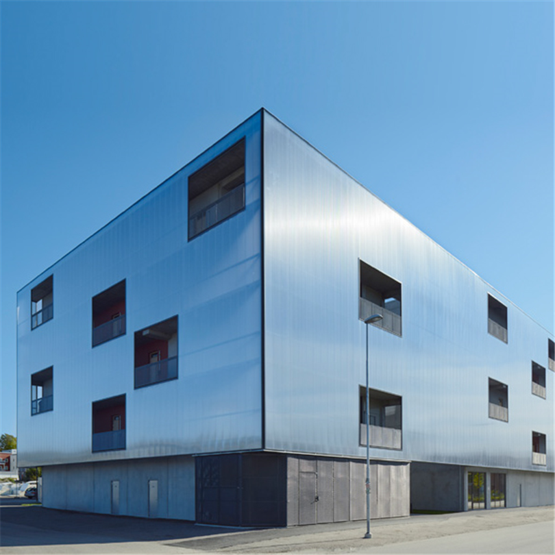 Scanlight Fasadsystem 540 på Junior Living, studentbostäder i Knivsta
