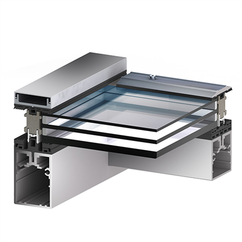 Scanlight Glastaksystem, profilsnitt 3-glas