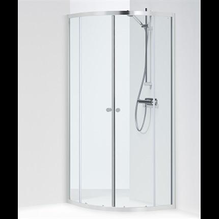 Ifö Silver kvartsrund duschvägg