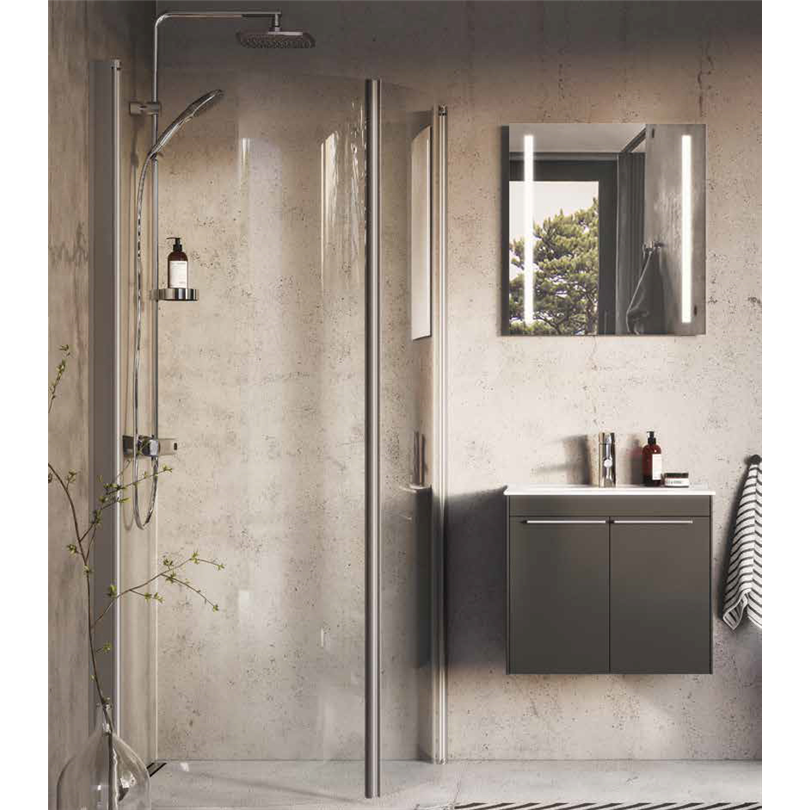 Ifö Space duschvägg, rak