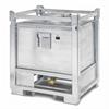 PWS ASF 800mU behållare med bottenventil för flytande farligt avfall