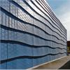 Blå standardmatris, för dekorativa betongfasader, vågmönster