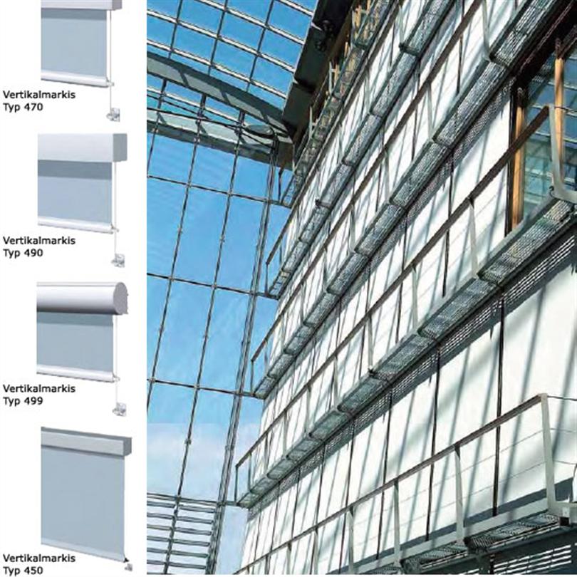 Solflex Vertikalmarkis byggnad