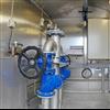 Inredning av rostfritt stål gör pumpstationen enkel att rengöra