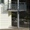 Attacus pelare och balkongelement