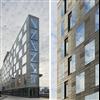 Attacus Infärgade samt syratvättade fasadelement med fabriksmonterat fasadglas, Kv. klassföreståndaren, Stockholm