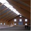 Lindborg sporthallar med limträbalkar