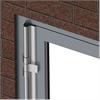 Klämskydd för ytterdörrar, skyddsprofil, lackade aluminiumprofiler, aluminiumdörrar