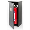 skåp för brandsläckare, skylt och handtag av krom, vägghängt skåp, 6kg brandsläckare, brandsläckarskåp, pulversläckare