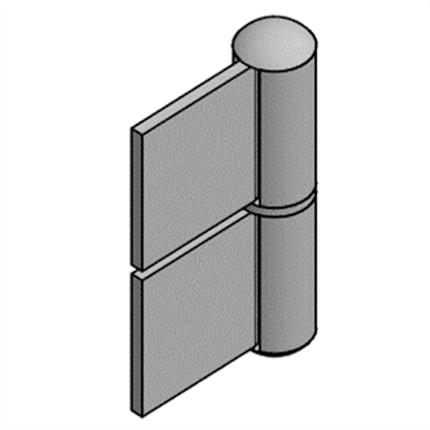 Göthes KO 4 konstruktionsgångjärn, aluminium