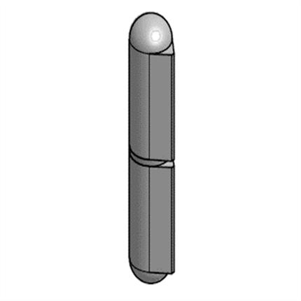 Göthes Nr 20 svetsgångjärn, aluminium