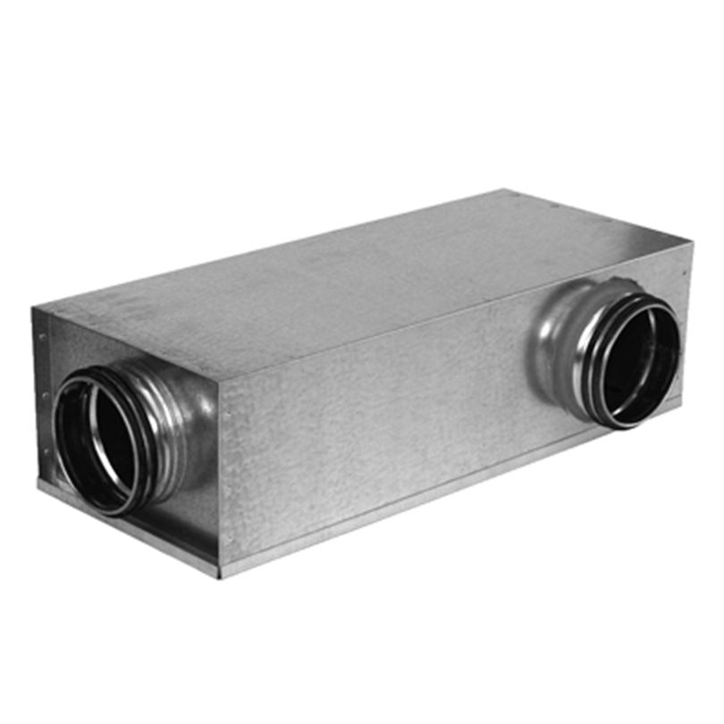 Lindab ljuddämpare KVDP 90k med Lindab Safe