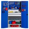 GBP verktygsskåp K103629 med flyttbara hyllor, verktygstavla och lagerlådor