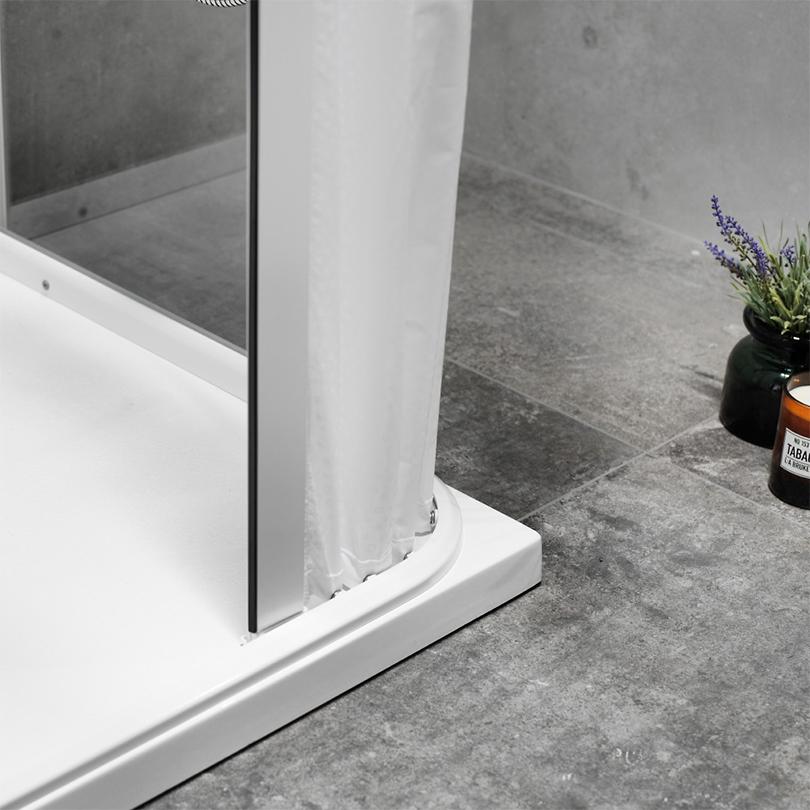 Moveum DesignLine duschkabin, detalj draperidörr