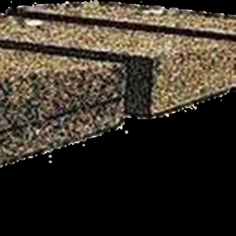 Taperad takfallssystem, kilformade
