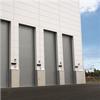 Metallrullport som går vertikalt, ekonomisk alternativ för stora öppningar,isolerade lameller