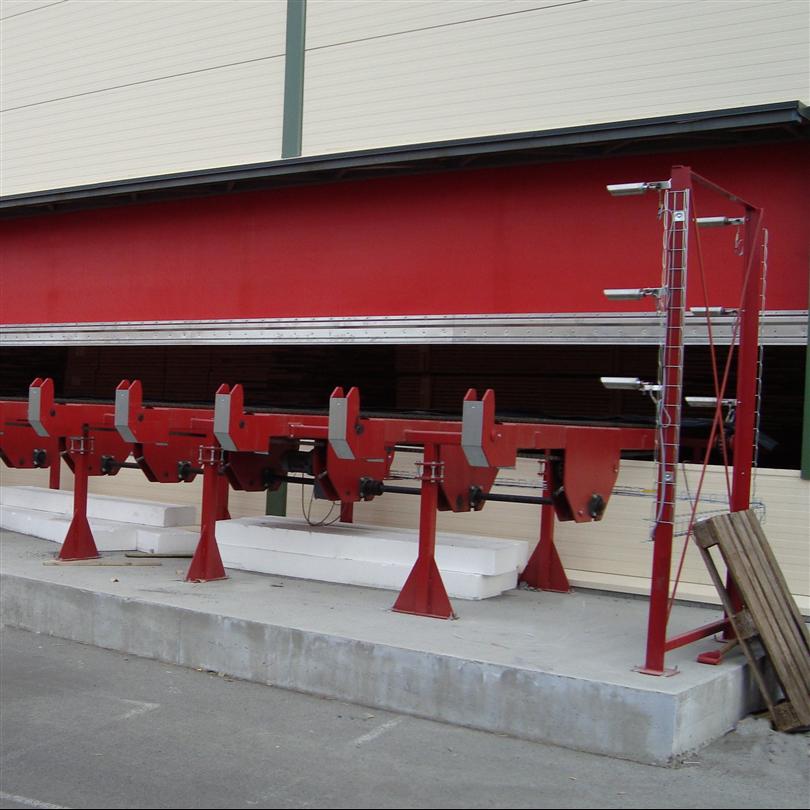Sågverksport,snabbrullport för sågverk,klarar kollisioner