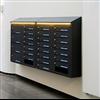 P3N Fastighetsbox Svenskboxen, liggande och stående fack, LED-belysning