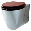 WCV4 Toalett av stål med sits av mahogny (tillval)