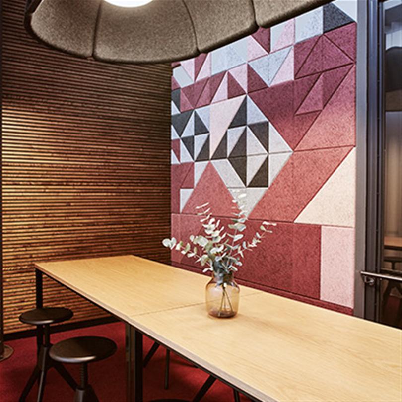Dekorskivor med abstarkt mönster, ljusabsorption