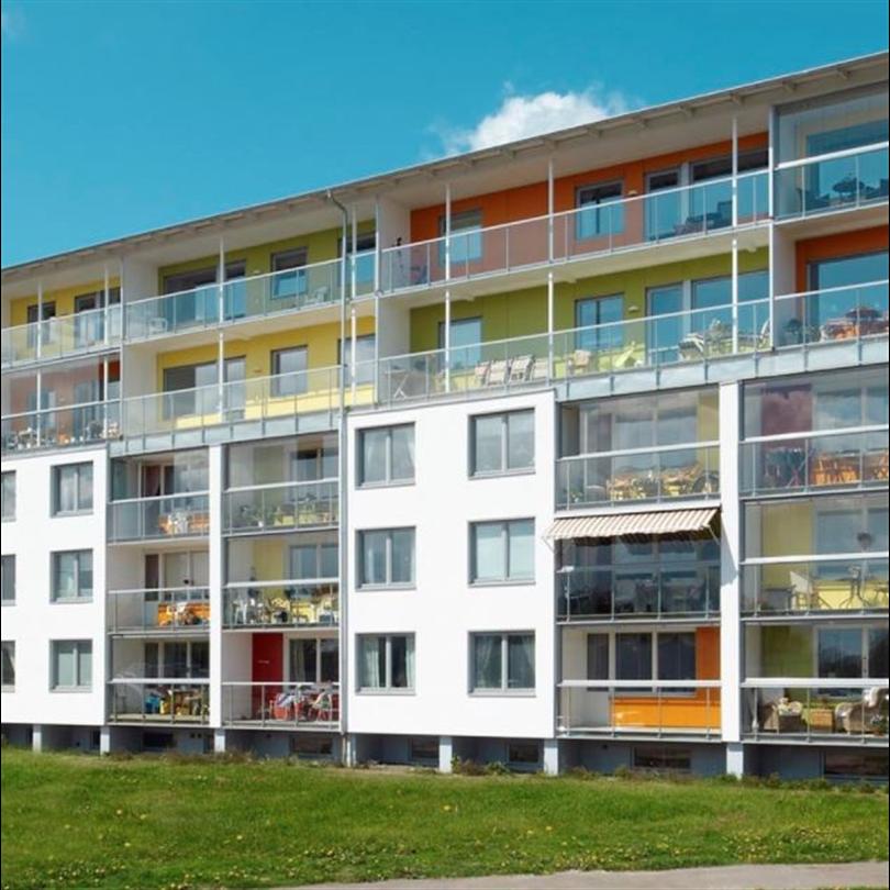 Färgstark fasad
