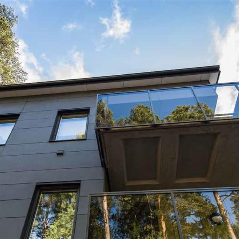 Naturdesignade fasadskivor