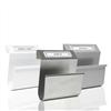 Tidningshållare Klämma i pulverlackerad Vit, Silver eller borstad stålplåt