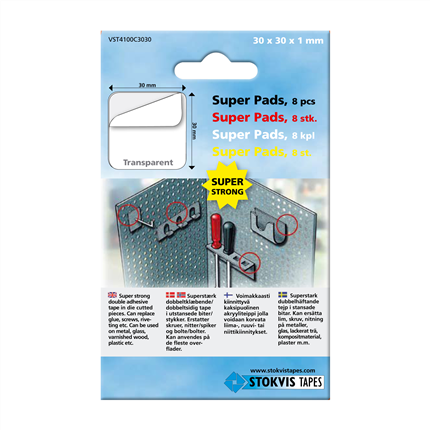 Stokvis VST Super Pads dubbelhäftande tejp