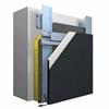 Systemuppbyggnad StoVentec ARTline Invisible ventilerat fasadsystem