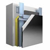 Systemuppbyggnad StoVentec Glass ventilerat fasadsystem