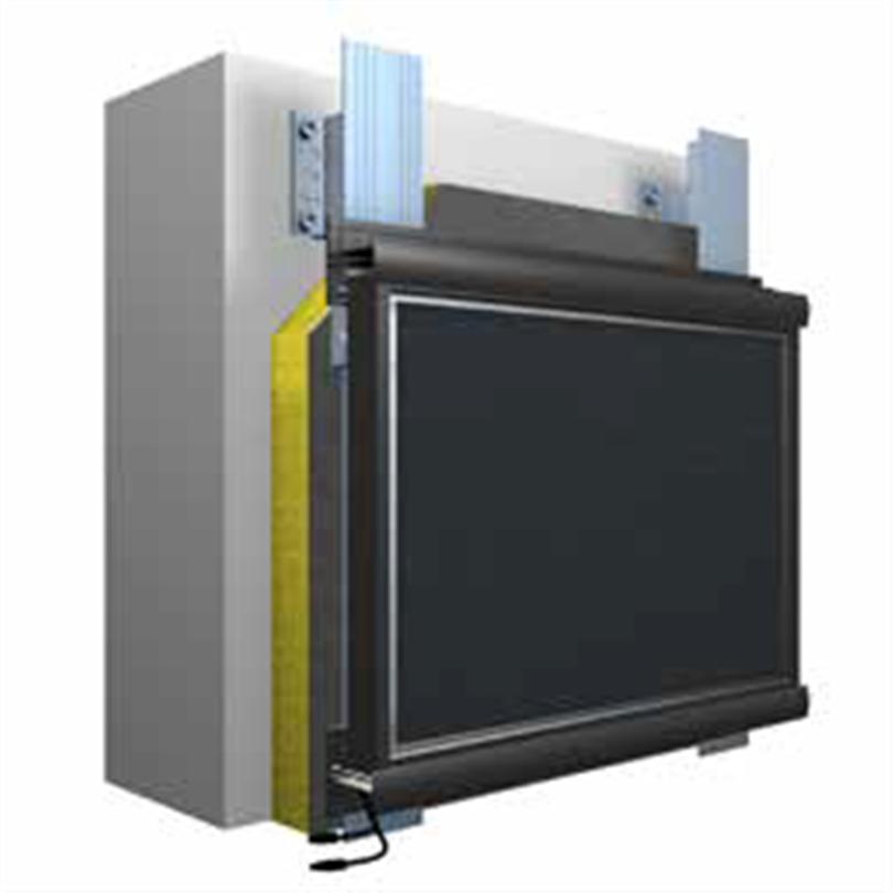 Systemuppbyggnad StoVentec ARTline Inlay ventilerat fasadsystem