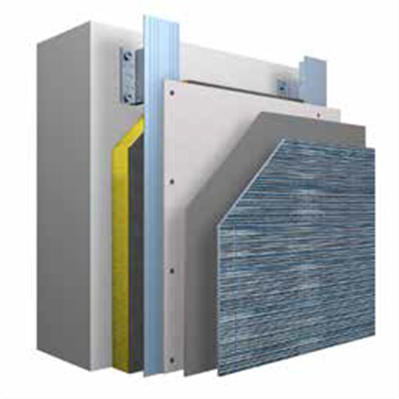Systemuppbyggnad StoVentec G ventilerat fasadsystem