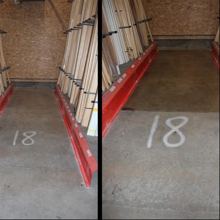 Golvlack för betonggolv, före och efter