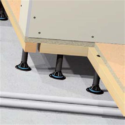 SubFloor akustikgolv, mellanvägg på spånskivan