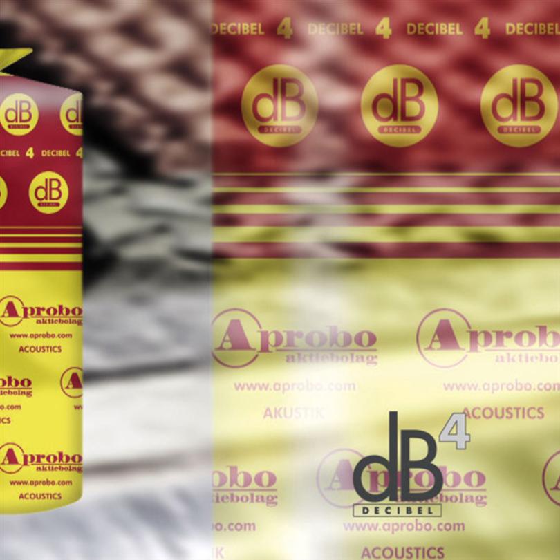 Akustikmatta för låga golv, decibel 4