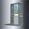 Cibes A5000H plattformshissar, med sidovägg spegel och led belysning
