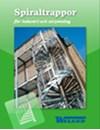 Spiraltrappor för industri och utrymning