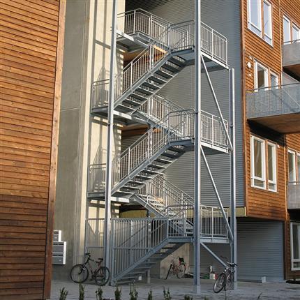 Weland Raka trappor i flera löp