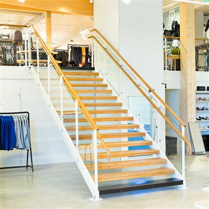 Weland Raka trappor med glasfyllning