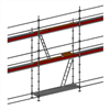 Layher Allround modulställning- 55 m2 med stege