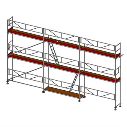 Layher SpeedyScaf 55 m2 ramställning med trappor