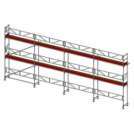 Layher SpeedyScaf 74 m2 ramställning