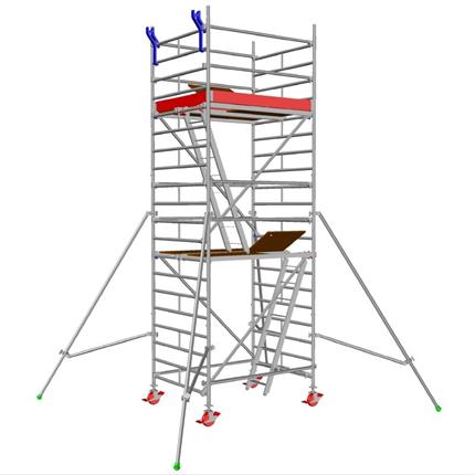 Layher Uni Compact rullställning, 4,3 meter