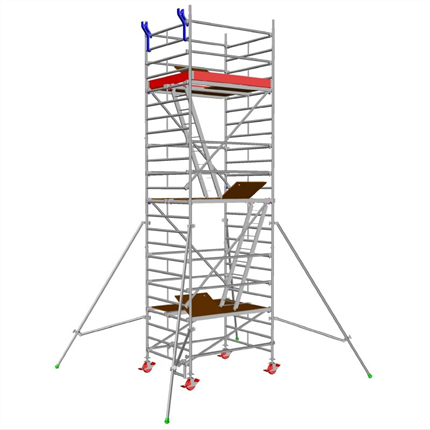 Layher Uni Compact rullställning, 5,3 meter