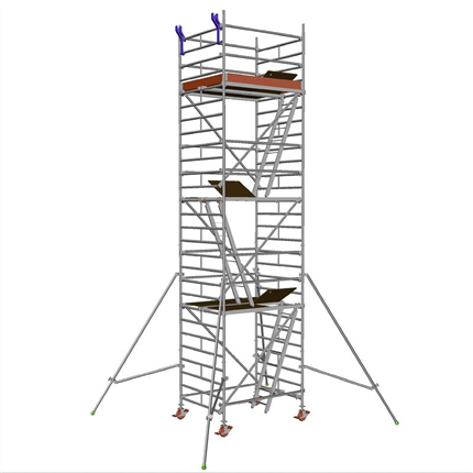 Layher Uni Compact rullställning, 6,3 meter