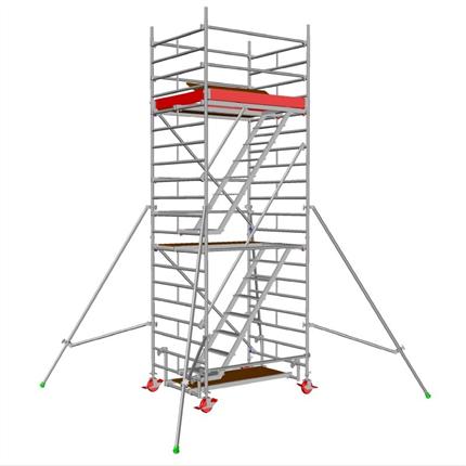 Layher Uni Stair rullställning, 4,3 meter
