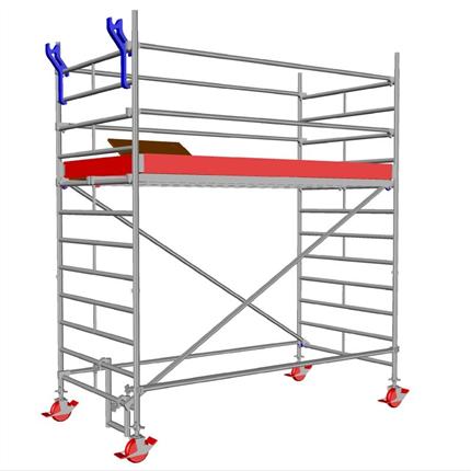 Layher Uni Wide rullställning, 2,3 meter