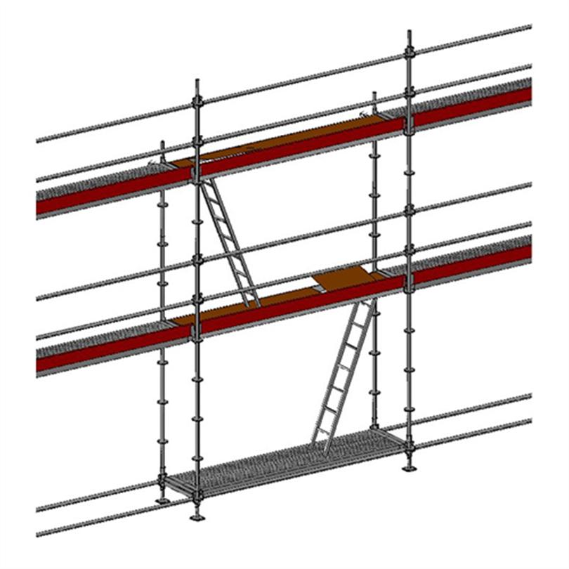 Layher Allround modulställning 55 m2 med stege