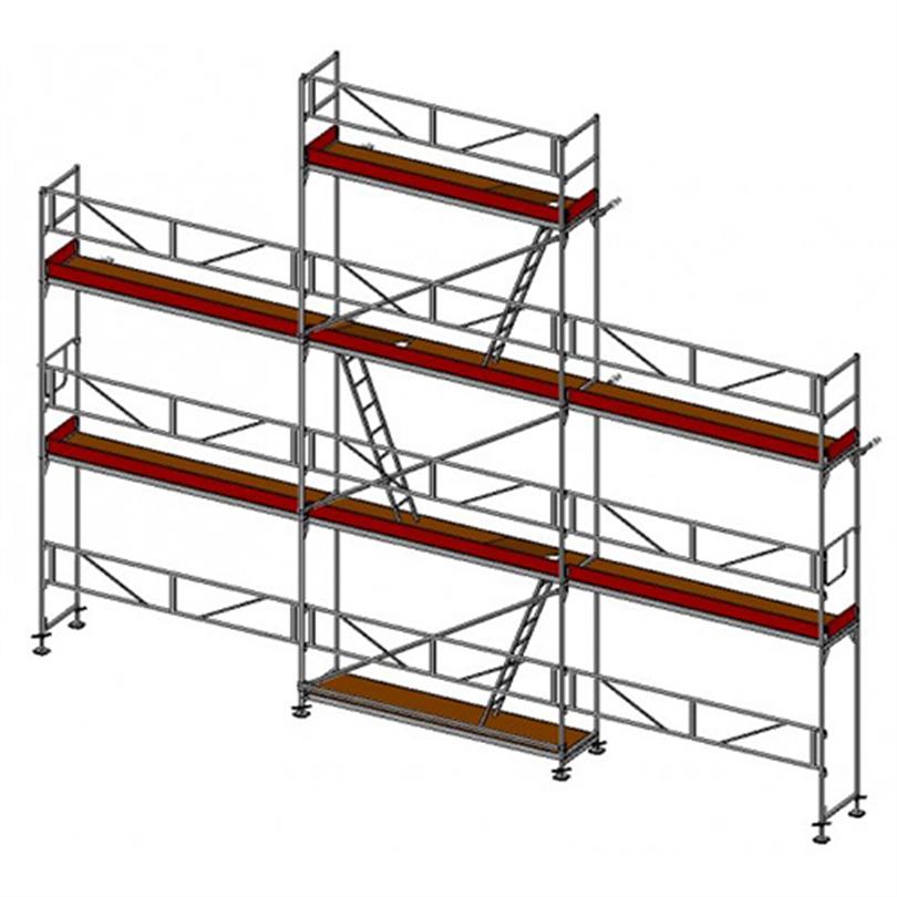 Layher SpeedyScaf 61 m2 ramställning med trappor